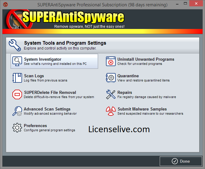 SUPERAntiSpyware Professional 10.0.1216 Crack + License Key 2021